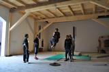 Rytířský sál - trénink kaskadérů